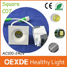 Discount price 3500k/6000k 3w square led ceiling downlight recessed mini spot