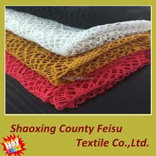 High quality 100% polyester interlock knitting jacquard lace fabric