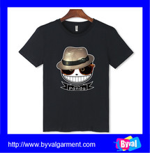 Black printed t-shirts 100%cotton short sleeve t-shirts for men breathable t-shirts in Summer