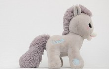 20/26/35/45cm lovely customzied Soft grey Plush Stuffed couple horses Animal Toy with embroidered LOGO