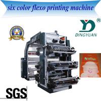 6 Color plastic bag nylon printing machine