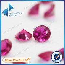 1.25mm promotion price round diamond cut rough loose corundum stone
