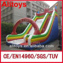 Adult bouncy inflatable toboggan slide