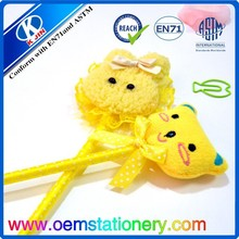 Yellow cartoon ballpoint pen/yellow doll ball pen/2015 new advertising ball pen