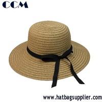 Women Sun Hat 100% Paper Braid Hat Beach Hat