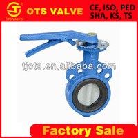 BV-SY-086 10 inch butterfly valve two piece body ductile iron with rubber seal