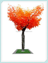 Halloween?chinese red artificial garden decor maple trees