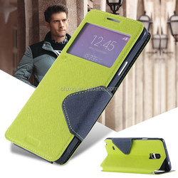 Luxury Flip PU Leather mobile phone Case For Samsung Galaxy S5