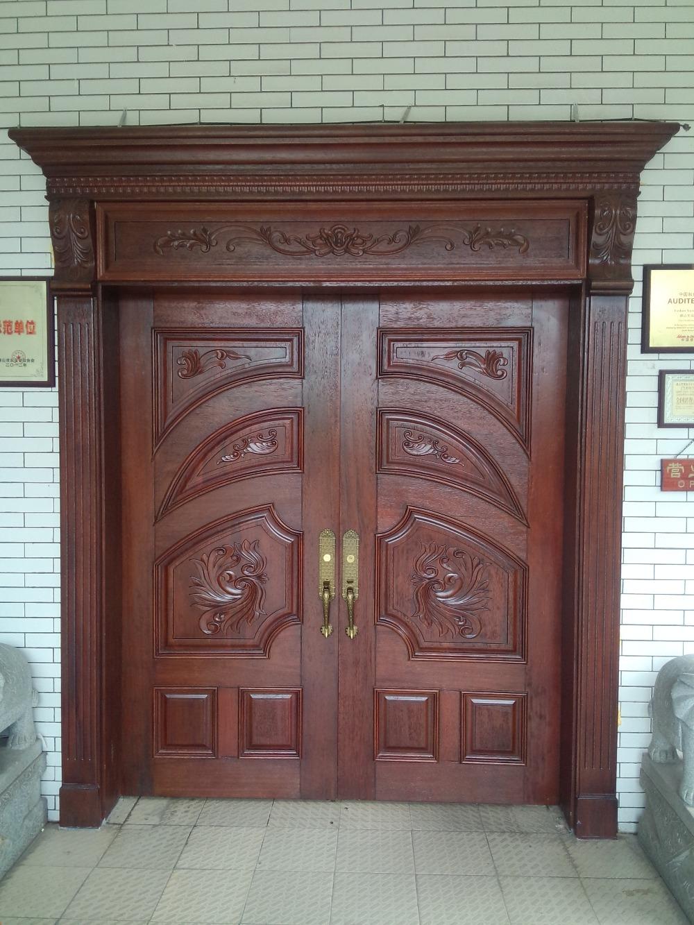 Moyen orient dernier mod le chinois usine en bois massif - Porte principale maison ...