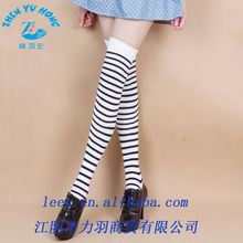 school girl's striped fashion stockings, high quality compression socks oem manufacturer