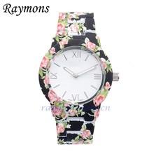 EU US market hot sale ladies flower printed Japan pc21 quartz watches