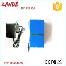 Super Power DC 12V Portable 15000mAh Li-ion Rechargeable Battery Pack for LED strips or CCTV System