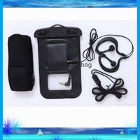 Hot sale PVC waterproof plastic bag for mobile phone with drawstring