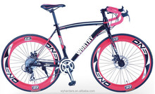 fast deliverly china 700c 24speed special colored road bike tires with steel frame for adult
