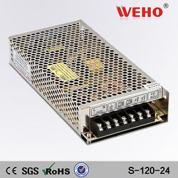 two year warranty 5a 120w ac dc led 24v power supplies
