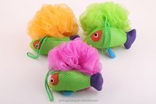 Mesh pouf bath sponge Fish-shaped Bath sponge