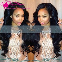 Natural Color Silk Straight Virgin Peruvian Hair Full Lace Wig