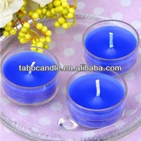Color Scents Clear Cup Tea Light Candles/scented tea light/plastic cup tea light candle