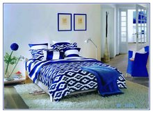New preppy european style sanding printed 100% cotton bed sheet woven four piece suit bedsheet bed cover