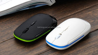 high frequency 2.4GHz Wireless Optical Mice Slim Mouse USB 2.0 Receiver for PC Laptop White