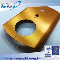 Hairline finish golden anodized aluminum custom design cell phone case