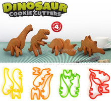 2015 New Product Plastic Jurassic 3D Dinosaur Cookie Cutter