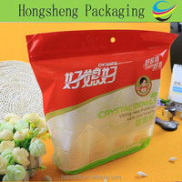 Custom gravure printing moisture proof ziplock stand up plastic bag for disposable plastic cup