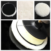 New Car Van Valeting Polisher Buffer Wool Auto Truck Boat Polishing Tools Terry Bonnet Pad 6inch Velcro