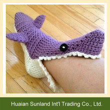 W-976 hand crochet funny shark socks knitting shark socks slippers