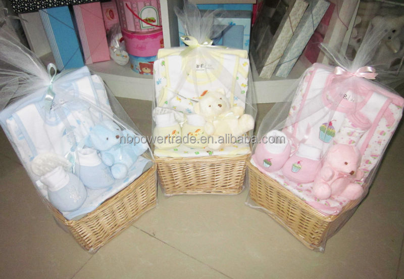 baby 9 st ck korb gesetzt baby geschenk set neugeborenen. Black Bedroom Furniture Sets. Home Design Ideas