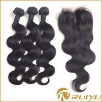 cheap brazilian hair closure piece,unprocessed virgin hair bundles with lace closure,silk base closure