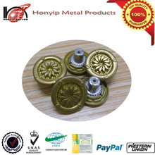 custom buttons,brass jean button,button match to aluminum pin