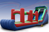hot sale rainbow inflatable water park slip n slide double slide games for fun