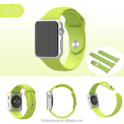 3pcs a set for apple smart watch band sport,silicone watch set