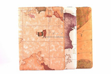 360-degree Swivel World map Leather Case for Apple iPad Air 2,beige pink- OEM