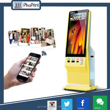 3g/wifi/network 18.5-42 inch colorful instagram printer and touch led screen advertising display