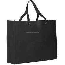 School college organic cotton sling tote bag black
