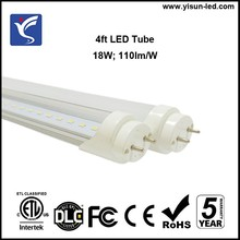 China factory direct supply 4 foot LED t8 tube top selling DLC ETL FCC