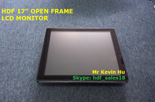 """1280*1024 sunlight readable lcd monitor ip65 waterproof 17"""" pcap usb touch screen for atm machine"""
