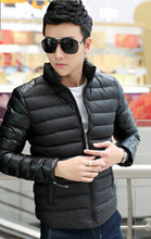 Men's coat collar fight skin thickening male