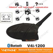 Full duplex motorcycle helmet bluetooth headset intercom