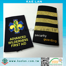 High quality Security epaulette/Military/Army uniform embroidered epaulettes