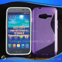 S Line Gel Soft TPU Cover For Samsung Galaxy Trend 2 II lite G318 Case for Cell phone spare parts