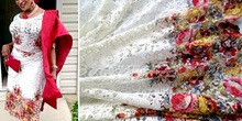 Hot sale White lace fabric guipure chemical lace,,high quality african guipure lace fabric