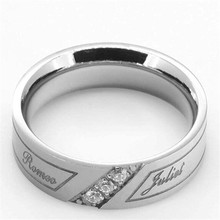 Yiwu Aceon Stainless Steel Crystal Stripe Custom Wedding Band mens stainless steel ring