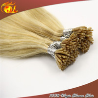 Hot selling brazilian remy keratin hair Bonding Hair Extensions with Glue