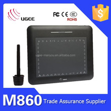 M860 usb interface 2048 levels 8x6 inches graphic painting tablet ugee
