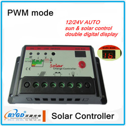 PWM 12/24V auto charge controller,10a solar controller