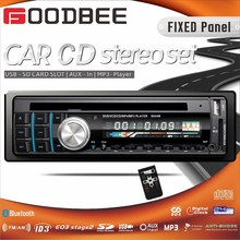 Fixed panel car cd player with USB, SD, MMC, AUX, ISO, RDS, REMOTE CONTROL CABLE, BLUETOOTH, NEW PANEL
