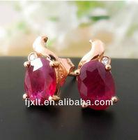 Nice 18K Gold Diamond Jewelry with Ruby